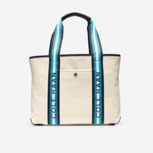 Cole Haan Summer Canvas Tote Bag Natural/Blue